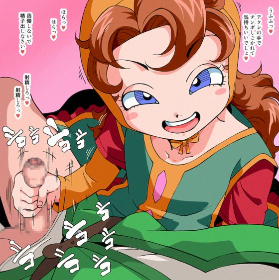 【エロ画像】 美少女ヒロイン達による手コキでドッピュドッピュしちゃってる画像part60