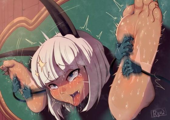 【エロ画像】 くすぐり敗北アヘ顔!! 「くすぐりなんかに屈しない!」→「らめぇぇええっwwww」って感じの画像wwwpart06