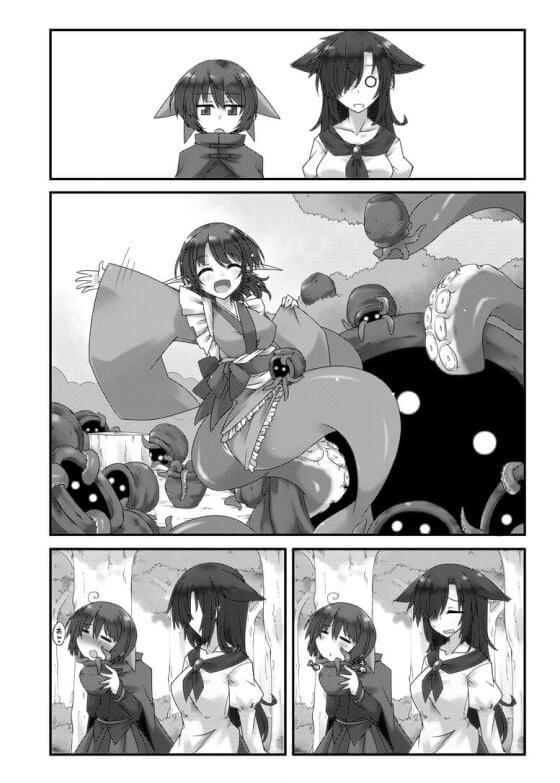 【東方・エロ漫画】 わかさぎ姫と巨大タコ触手のラブイチャセックス!! うっかり巨大タコ壺を開けてしまった結果www
