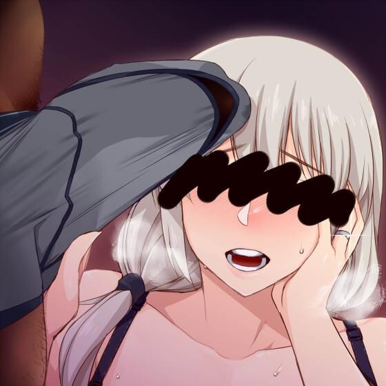 【エロ画像】 デカチンポを押し付けられちゃうヒロイン達!! 雄臭いチンポで発情させられちゃう二次エロ画像www part107