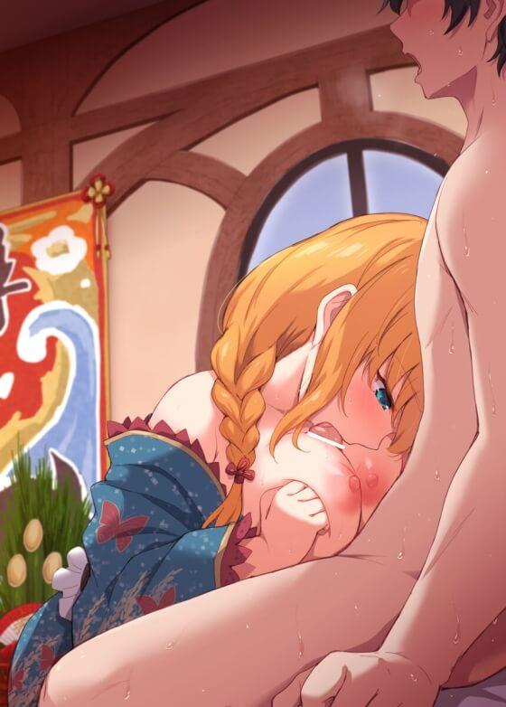 【エロ画像】 美少女ヒロインのエロご奉仕!! オッパイや口でオチンポ扱いてる二次エロ画像www part90