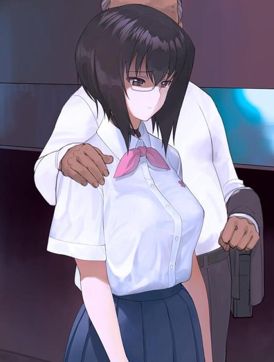 【エロ画像】 中年オジサンと売春セックス!! お金のためにガッツリセックスしちゃってる美少女ヒロイン達の二次エロ画像www part72