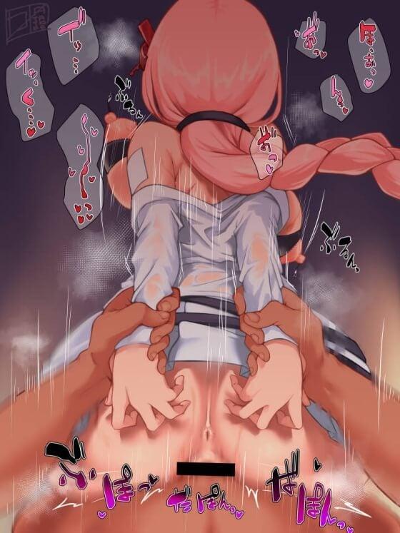 【エロ画像】 ゲス男達に無理やりレイプされまくってる美少女ヒロイン達の二次エロ画像 part127
