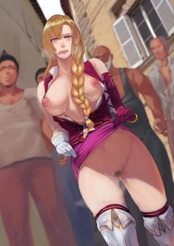 【エロ画像】 美少女ヒロイン達の裸体!! 露出して肌を晒して発情しちゃってる二次エロ画像www part57