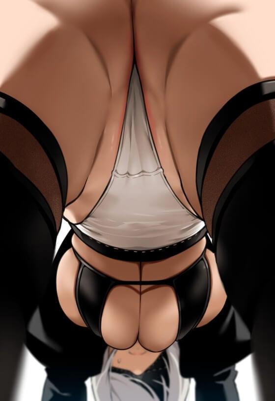 【エロ画像】 ケツレイプ!!お尻がエロすぎる美少女ヒロイン達の二次エロ画像www part106