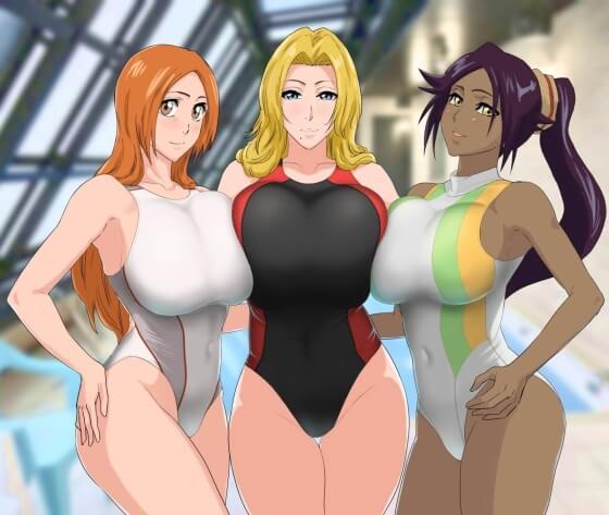 【エロ画像】 乱交セックス!! 美少女ヒロイン達が雄チンポに囲まれてズコバコしまくってる二次エロ画像www part40