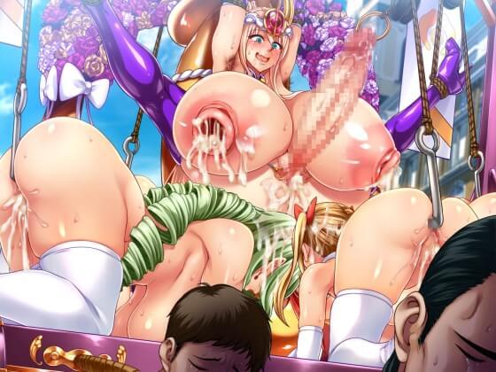【エロ画像】 強く気高い姫騎士が敗北!! 苛烈な調教で快楽中毒にされてしまいド下品で無様な見世物に…(サンプル31枚)