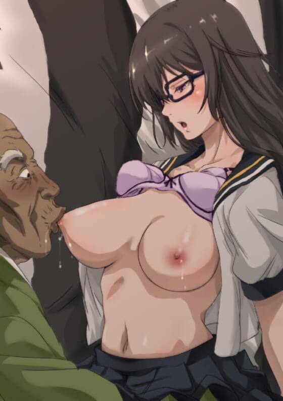 【エロ画像】 キモオヤジレイプ!! 美少女ヒロイン達が汚いオッサンに屈辱的に犯されまくってる二次エロ画像www part145